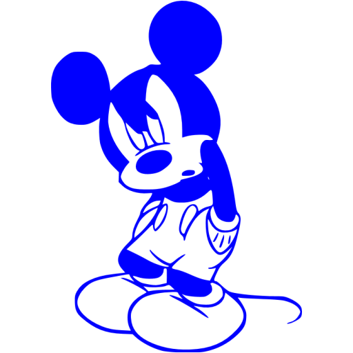 Blue Mickey Mouse Icon
