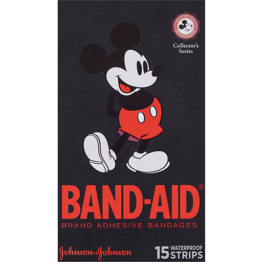Johnson Johnson Band Aid Character Strips Mickey Mouse