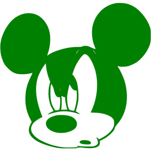 Green Mickey Mouse Icon