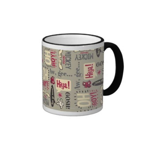 Mickey Mouse Icon Pattern Coffee Mug Disney Coffee Mugs