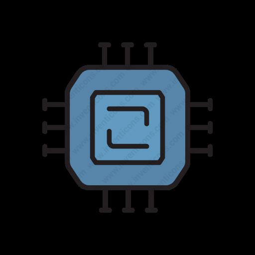 Download Cpu,microchip,cpu,processor,chip Icon Inventicons