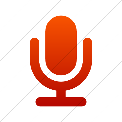 Simple Red Gradient Foundation Microphone Icon