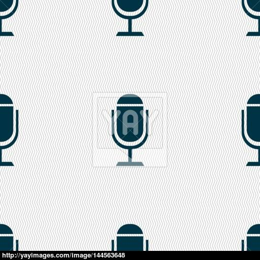 Microphone Icon Speaker Symbol Live Music Sign Seamless