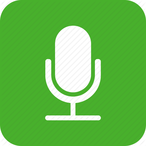 Green, Mic, Microphone, Recording, Speaker, Square Icon