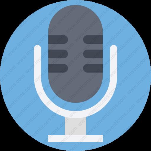 Download Microphone,multimedia,record,voice,mic Icon Inventicons
