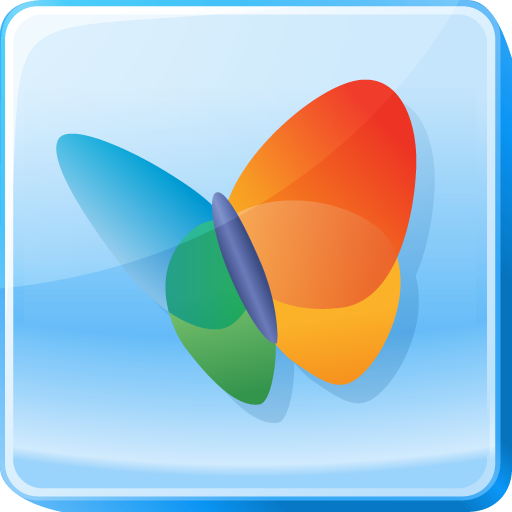 Butterfly, Hotmail, Live, Logo, Microsoft, Msn, Square Icon