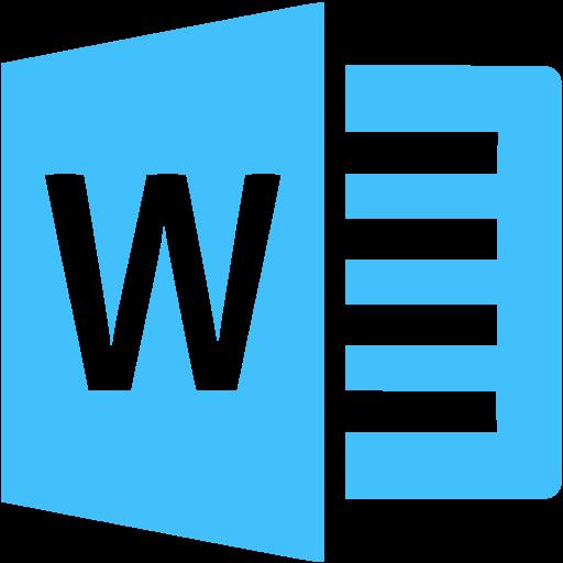 Caribbean Blue Microsoft Word Icon
