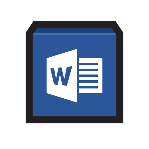 Microsoft, Word, Word Processing, Word Processor, Writer Icon