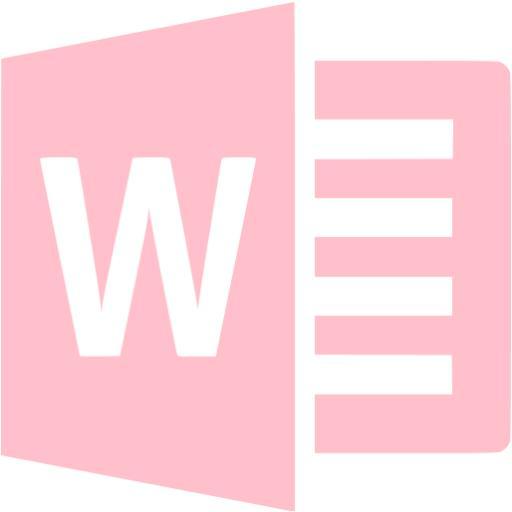 Pink Microsoft Word Icon