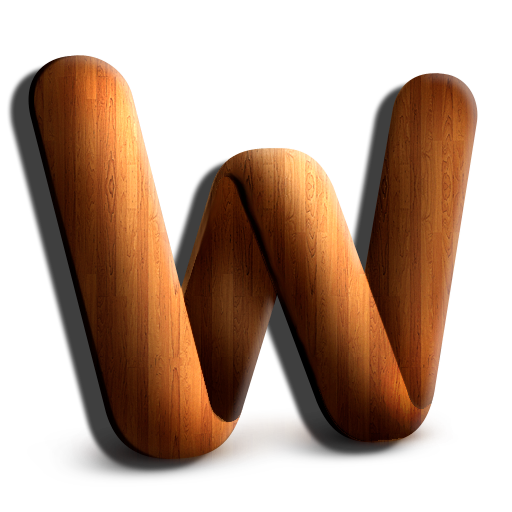 Wooden, Word Icon