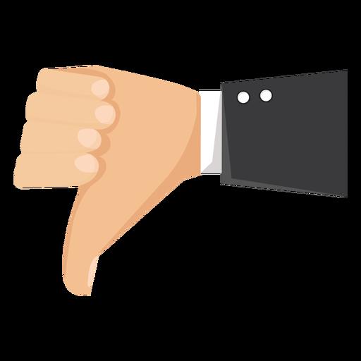 Hand Dislike Thumb Sleeve Illustration