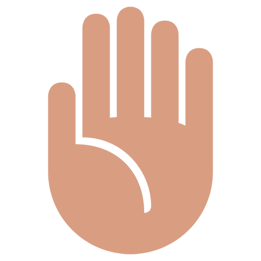 Raised Hand Emoji For Facebook, Email Sms Id