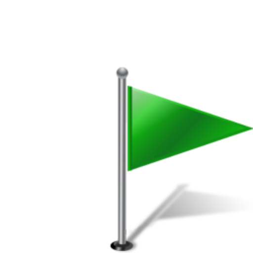 Flag, Right, Green Icon Free Of Gisgpsmap Icons