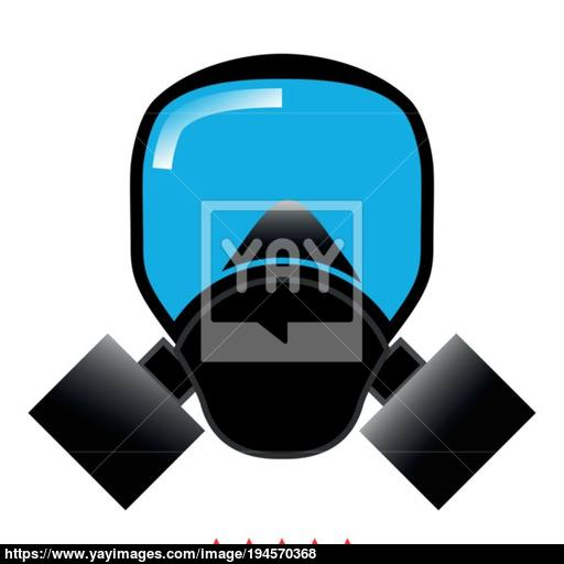 Gas Mask Icon Illustration Color Fill Style Vector