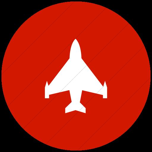 Flat Circle White On Red Ocha Humanitarians Logistics