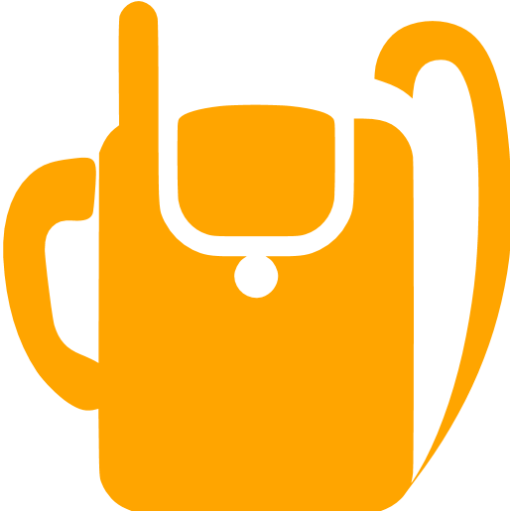 Orange Military Backpack Radio Icon
