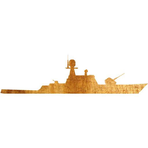 Light Wood Military Boat Icon