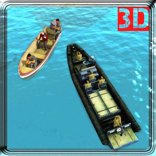 Military Boat Sea Border Ship Sailing Game Sim