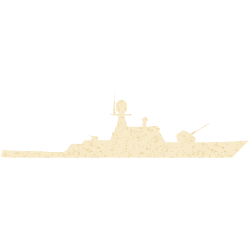 Old Paper Military Boat Icon