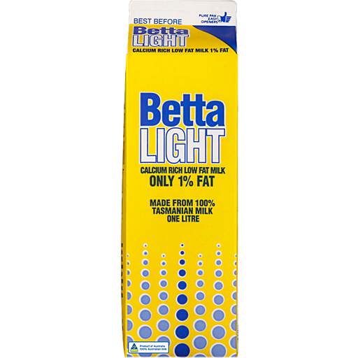 Betta Betta Light Milk Carton
