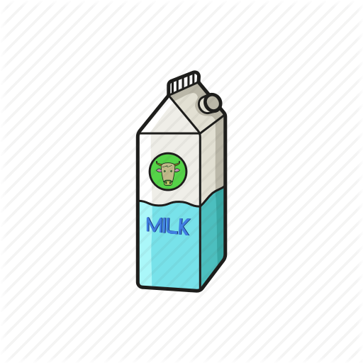 Breakfast, Dairy, Milk, Milk Carton Icon Icon