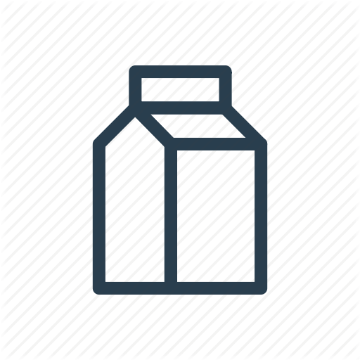 Carton, Juice, Milk, Pack, Package, Packet Icon