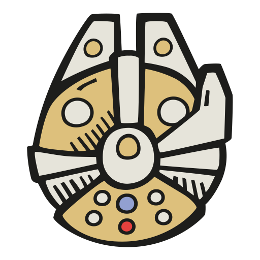 Millennium Falcon Icon Free Space Iconset Good Stuff No Nonsense