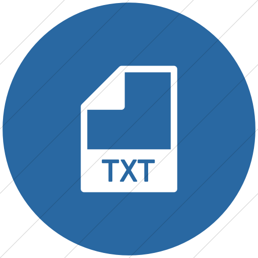 Flat Circle White On Blue Mime Types Document Txt Icon