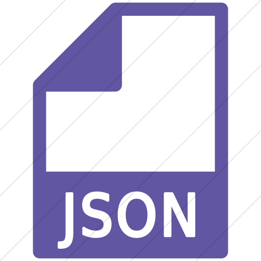 Simple Purple Mime Types Document Json Icon