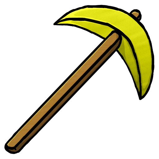 Gold Pickaxe Icon Minecraft Iconset
