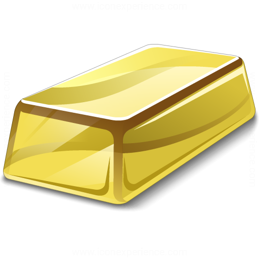 Iconexperience V Collection Gold Bar Icon