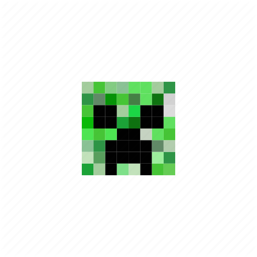 Creeper, Game, Head, Minecraft, Pixels Icon