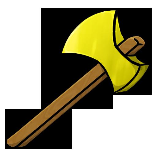 Gold Axe Icon Minecraft Iconset