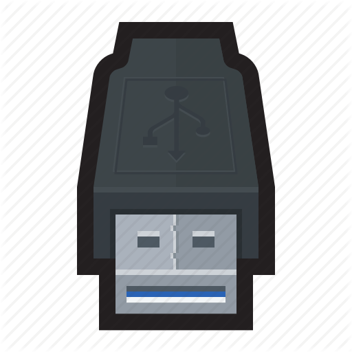 Cable, Connector, External, Type A, Usb, Usb Icon