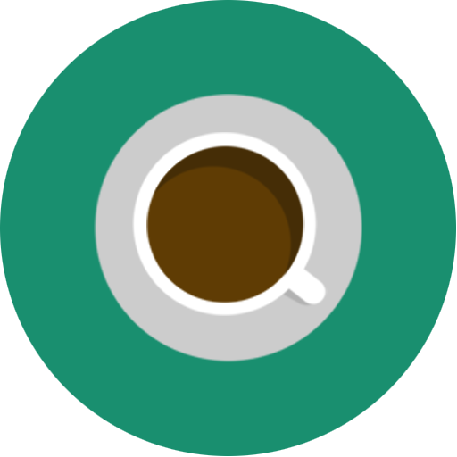 Brown, Cafe, Coffee, Green, Minimal Icon