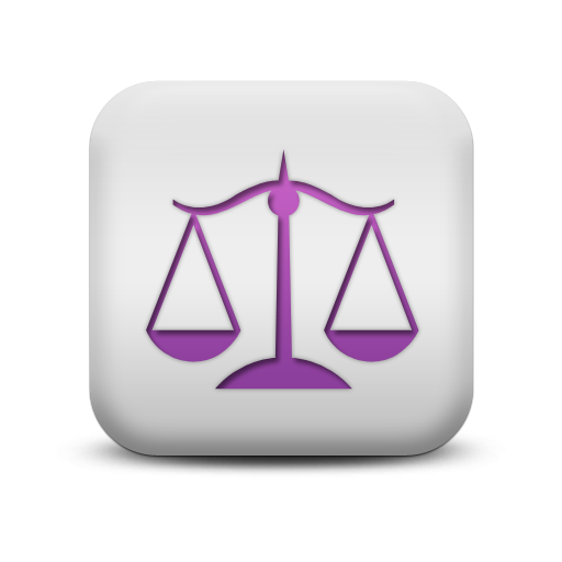 Matte Purple And White Square Icon Signs Scale