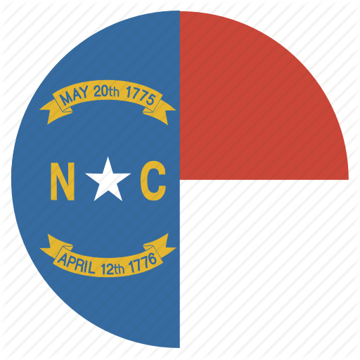 Carolina, Circle, Circular, Flag, North, State Icon
