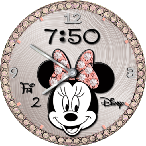 Minnie Mouse Rose Gold Accents Watchfaces For Smart Watches