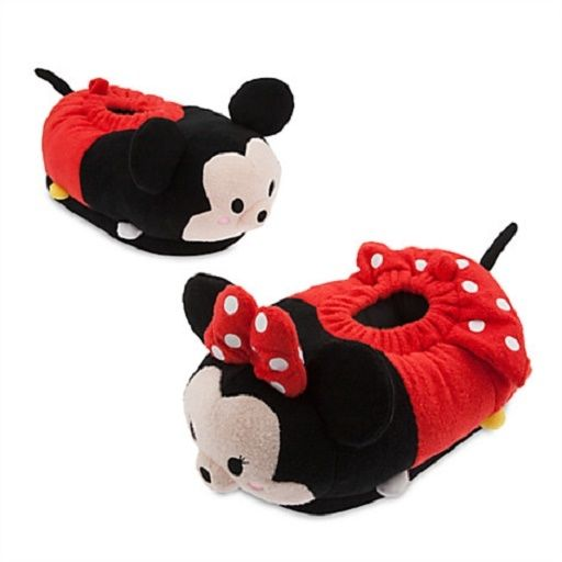 Tsum Tsum Adult Slippers Mickey + Minnie Mouse Shoes Disney Store