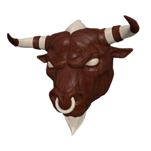 Buy Sell Battle Royale Wooden Minotaur Mask Skins