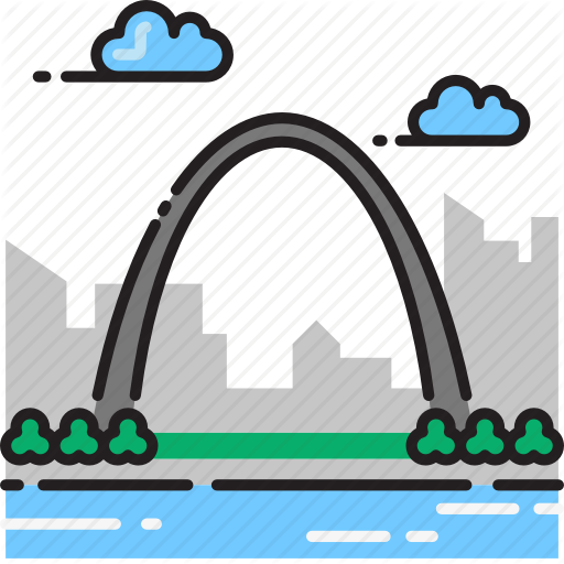 Arch, Gateway, Gateway Arch, Missouri, Monument Icon