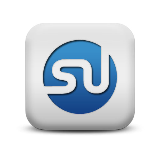 Stumbleupon Icon From The Matte Blue And White Square Icons