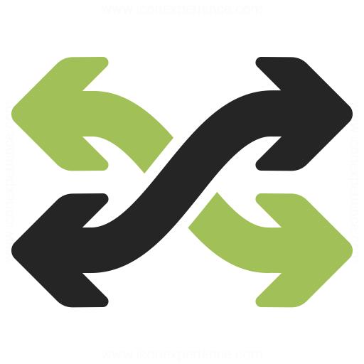 Arrow Mix Icon Iconexperience
