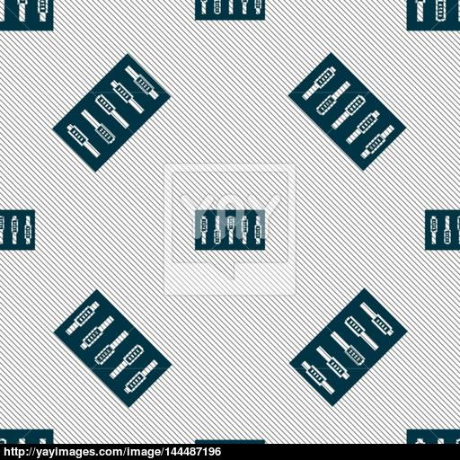 Dj Console Mix Handles And Buttons Icon Symbol Seamless Pattern