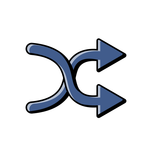 Music, Shuffle, Player, Mix, Arrows, Blue Icon Free Of Music
