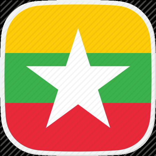Burma, Flag, Mm Icon