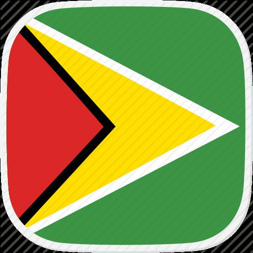 Flag, Guyana, Gy Icon