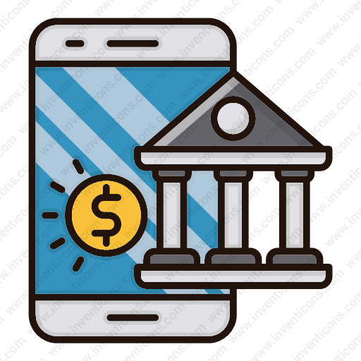 Download Mobile,banking Icon Inventicons