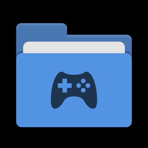Folder Blue Games Icon Papirus Places Iconset Papirus