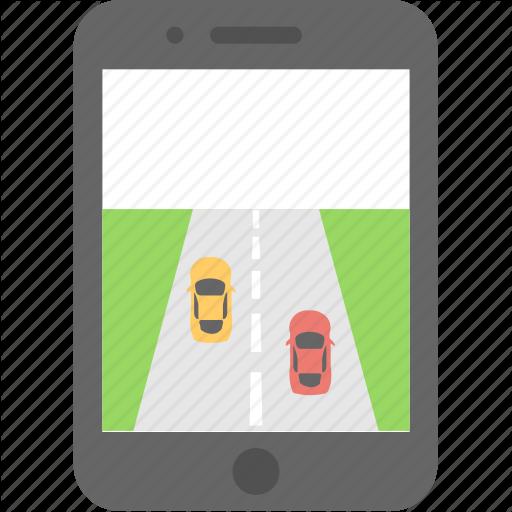 Mobile, Mobile Game, Racing Game, Smartphone, Videogame Icon